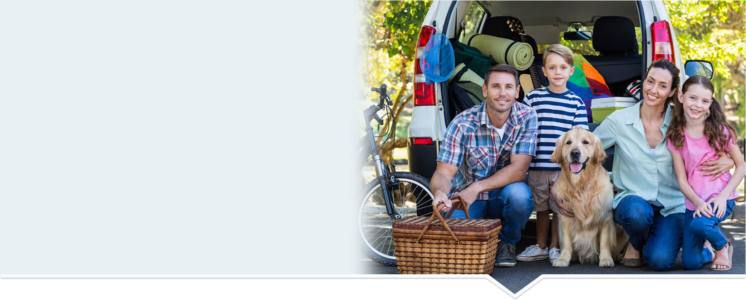 Happy Family having a picnic with dog and mini-van. When you're living and enjoying life, you shouldn't be thinking about your insurance policy. Let Odiorne Insurance take the stress out of life's uncertainties.