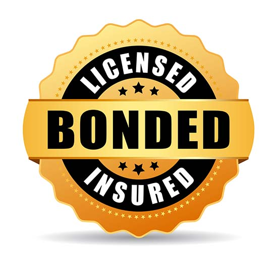 Licensed and Bonded Insured gold seal graphic